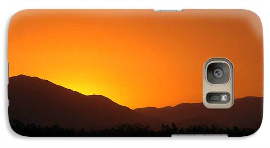 Sunset Galaxy S7 Case featuring the photograph San Jacinto Dusk Near Palm Springs by Michael Ziegler