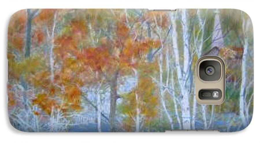 Church; Landscape; Birch Trees Galaxy S7 Case featuring the painting Sanctuary by Ben Kiger