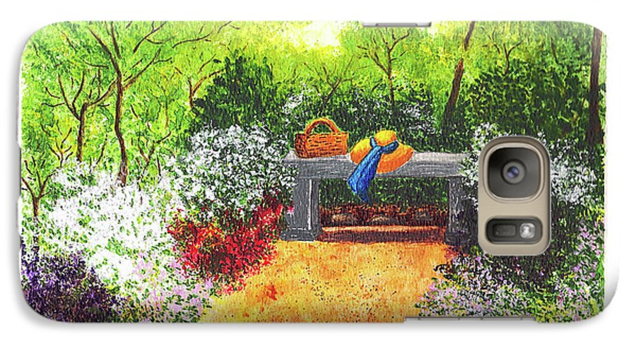 Garden Painting Galaxy S7 Case featuring the painting Sanctuary by Patricia Griffin Brett