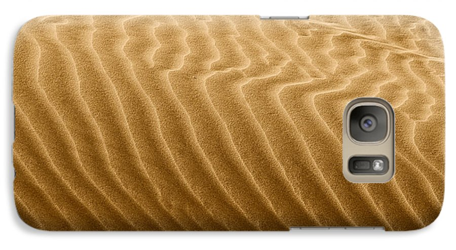 Sand Galaxy S7 Case featuring the photograph Sand Dune Mojave Desert California by Christine Till