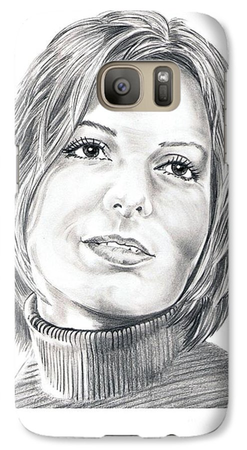 Drawing Galaxy S7 Case featuring the drawing Sandra Bullock by Murphy Elliott