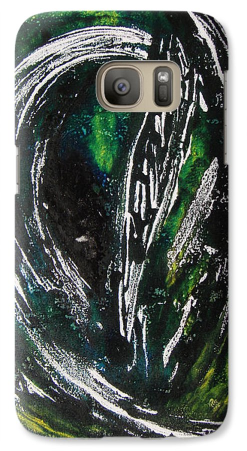 Abstract Galaxy S7 Case featuring the painting Sans Fin by Muriel Dolemieux
