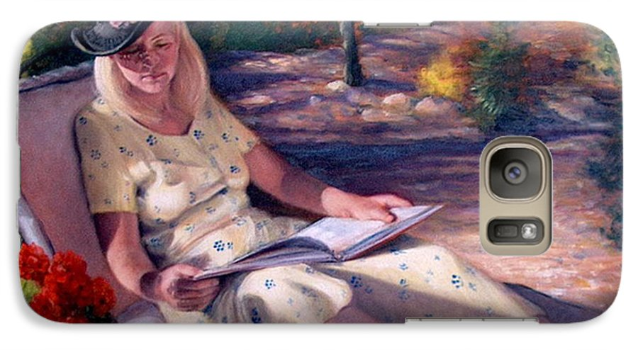 Realism Galaxy S7 Case featuring the painting Santa Fe Garden 1 by Donelli DiMaria