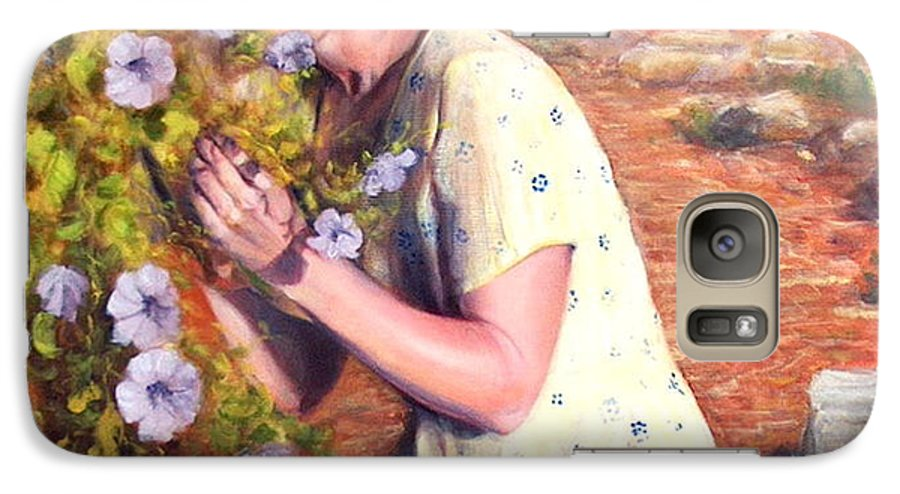 Realism Galaxy S7 Case featuring the painting Santa Fe Garden 2  by Donelli DiMaria