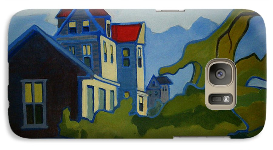 Buildings Galaxy S7 Case featuring the painting Sarah Paul by Debra Bretton Robinson