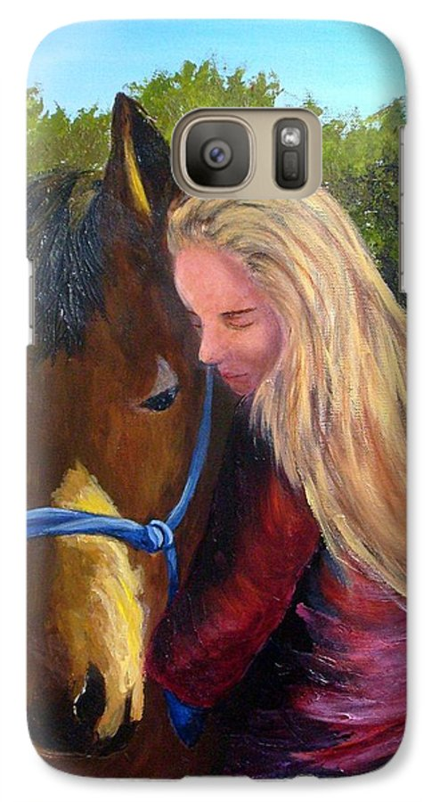 Galaxy S7 Case featuring the painting Sasha And Chelsea by Tami Booher