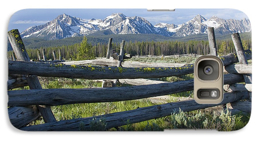Sawtooth Galaxy S7 Case featuring the photograph Sawtooth Range by Idaho Scenic Images Linda Lantzy