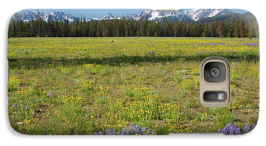Wildflowers Galaxy S7 Case featuring the photograph Sawtooths And Wildflowers by Idaho Scenic Images Linda Lantzy