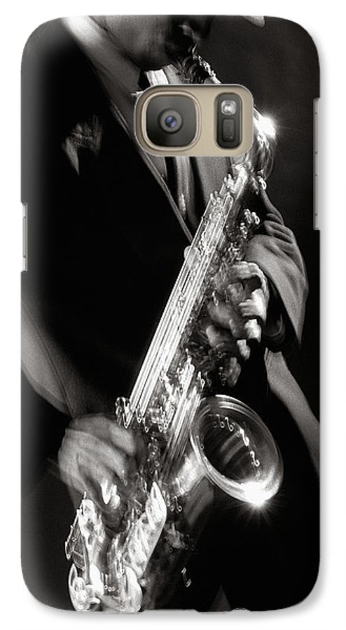 Sax Galaxy S7 Case featuring the photograph Sax Man 1 by Tony Cordoza