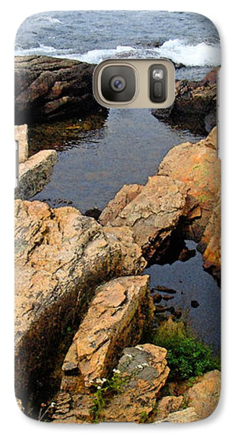 Landscape Galaxy S7 Case featuring the photograph Scoodic Tidepool by Peter Muzyka