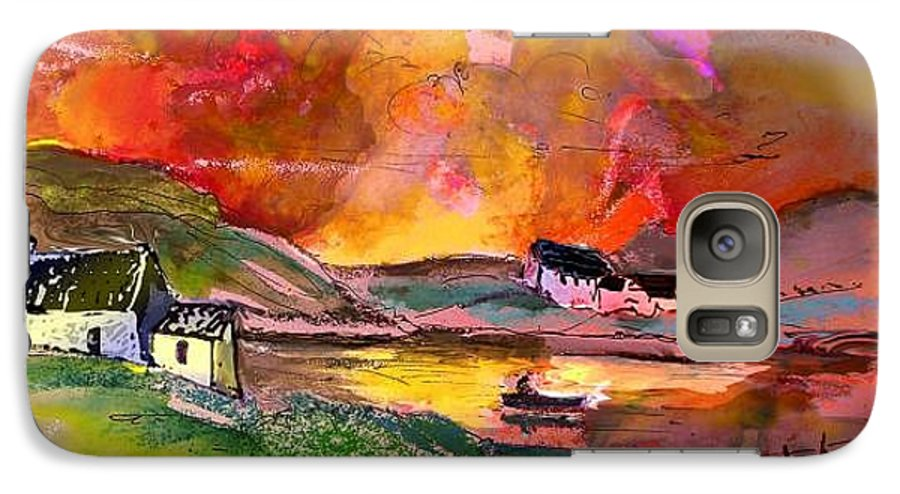 Scotland Paintings Galaxy S7 Case featuring the painting Scotland 07 by Miki De Goodaboom