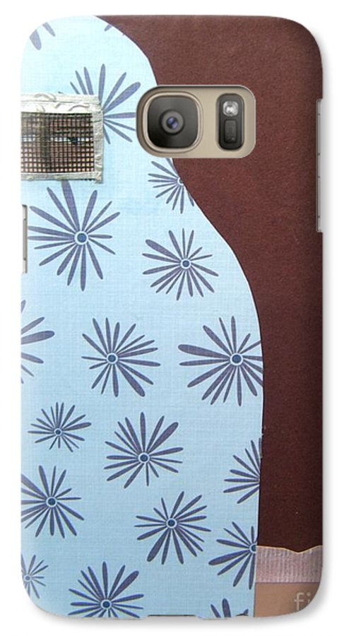 Woman Galaxy S7 Case featuring the mixed media Screen To The World by Debra Bretton Robinson