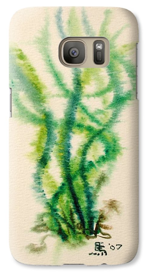 Sea Galaxy S7 Case featuring the painting Sea Bed One by Dave Martsolf