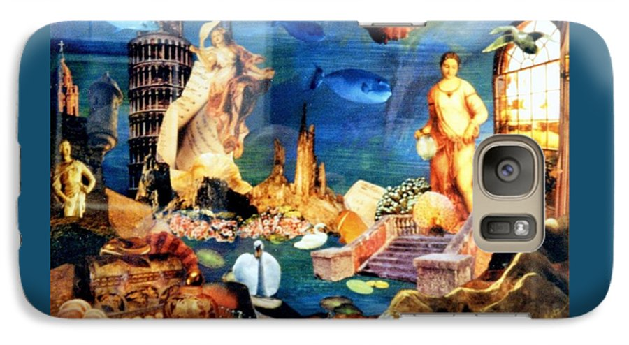 Fantasy Galaxy S7 Case featuring the painting Sea Garden by Gail Kirtz