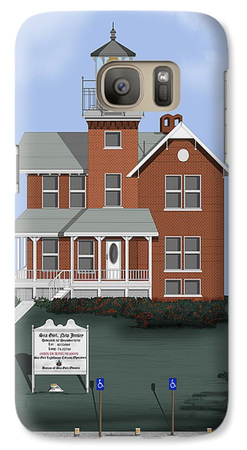 Lighthouse Galaxy S7 Case featuring the painting Sea Girt New Jersey by Anne Norskog