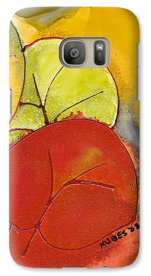 Leaf Galaxy S7 Case featuring the painting Sea Grapes by Susan Kubes