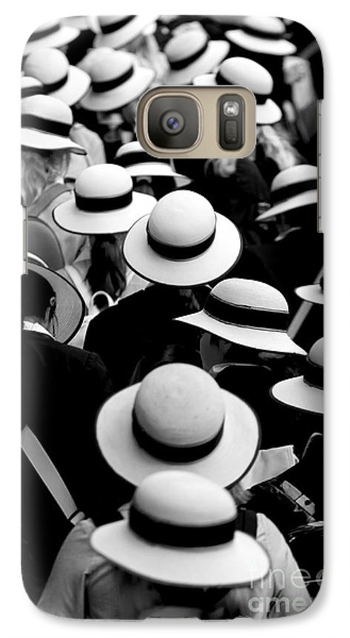 Hats Schoolgirls Galaxy S7 Case featuring the photograph Sea Of Hats by Avalon Fine Art Photography
