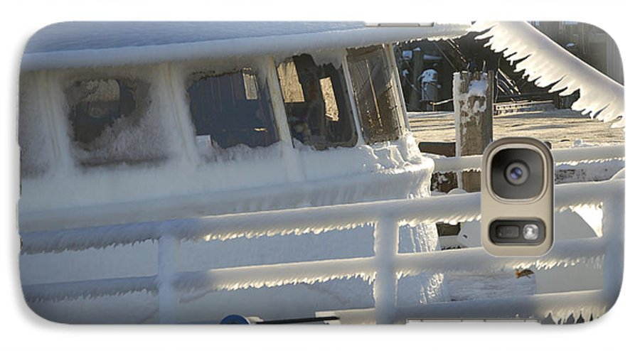 Fishing Galaxy S7 Case featuring the photograph Sea Spray Ice by Faith Harron Boudreau