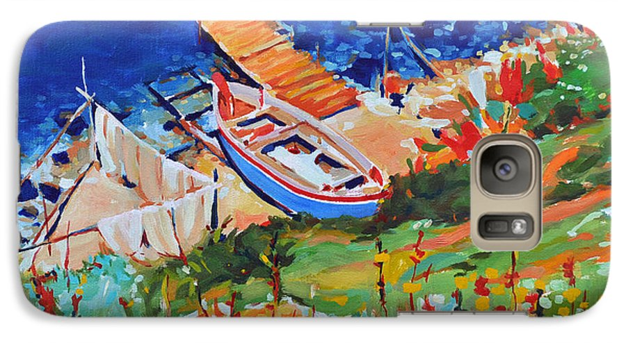 Seascape Galaxy S7 Case featuring the painting Seacoast by Iliyan Bozhanov