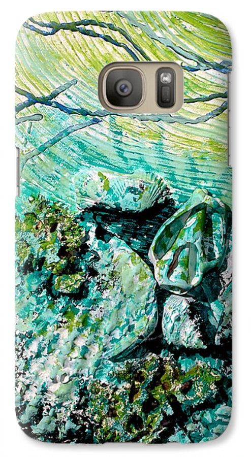 Seashell Galaxy S7 Case featuring the sculpture Seashell Collage by Susan Kubes
