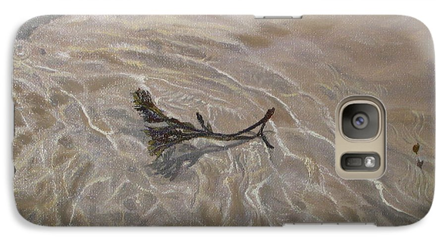 Seascape Galaxy S7 Case featuring the painting Seashore Reflections by Lea Novak