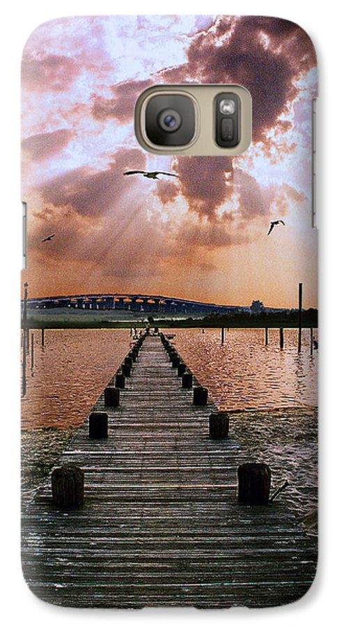Seascape Galaxy S7 Case featuring the photograph Seaside by Steve Karol