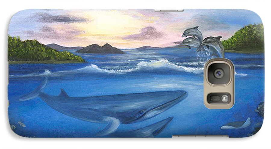 Landscape Galaxy S7 Case featuring the painting Seaworld by Anne Kushnick