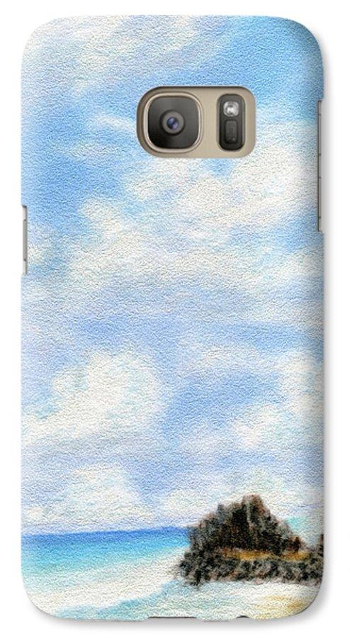 Coastal Decor Galaxy S7 Case featuring the painting Secret Beach Sky by Kenneth Grzesik