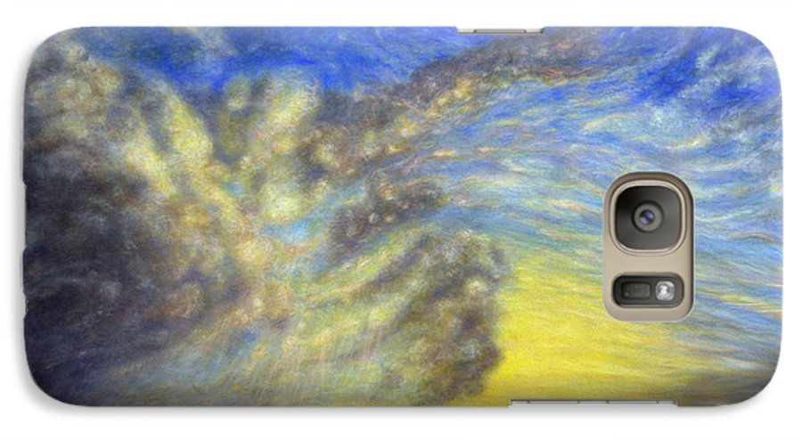 Coastal Decor Galaxy S7 Case featuring the painting Secret Beach Sunset by Kenneth Grzesik