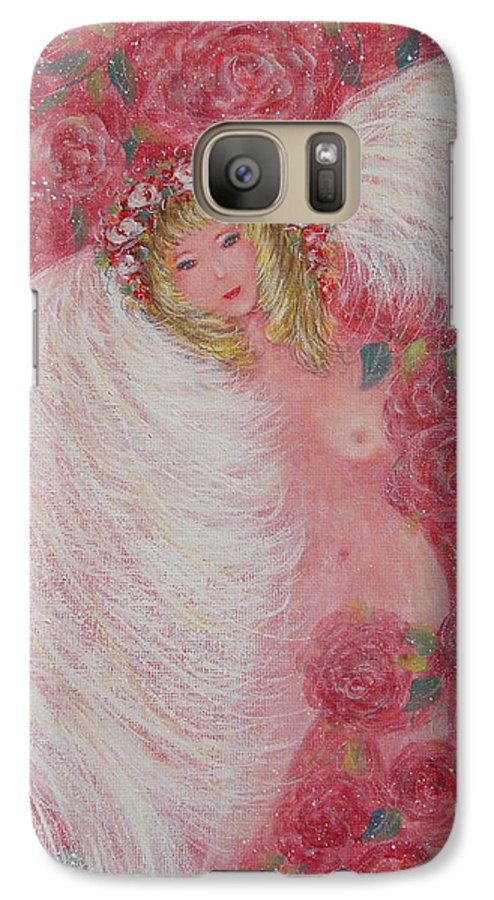 Angel Galaxy S7 Case featuring the painting Secret Garden Angel 6 by Natalie Holland