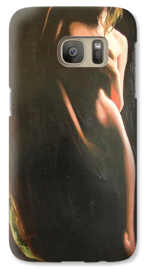 Art Galaxy S7 Case featuring the painting Secrets by Sergey Ignatenko
