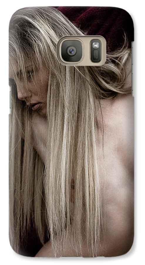 Sensual Galaxy S7 Case featuring the photograph See Me by Olivier De Rycke