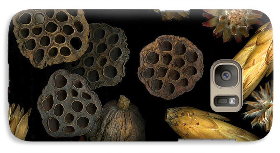 Pods Galaxy S7 Case featuring the photograph Seeds And Pods by Christian Slanec