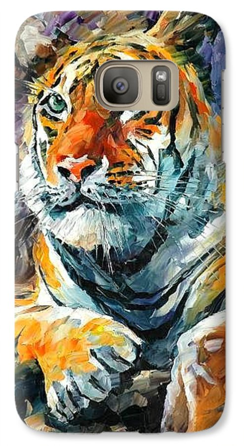 Painting Galaxy S7 Case featuring the painting Seibirian Tiger by Leonid Afremov