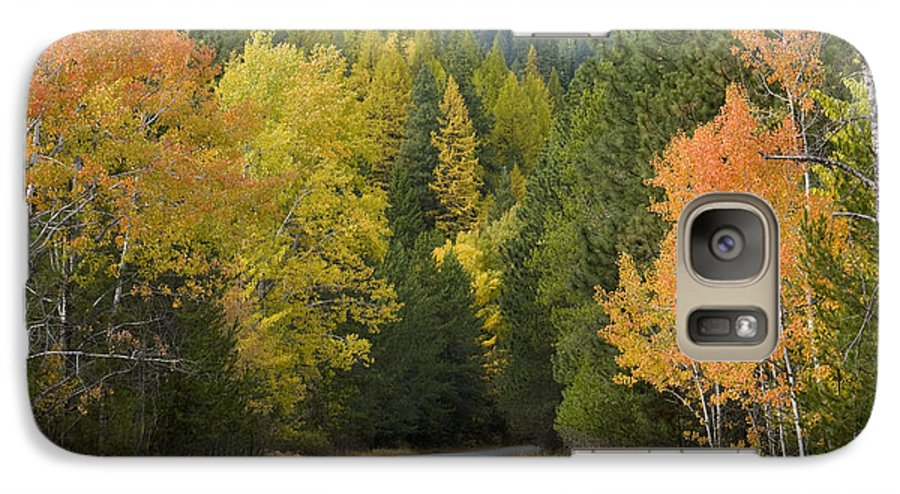 Trees Galaxy S7 Case featuring the photograph Selkirk Color by Idaho Scenic Images Linda Lantzy