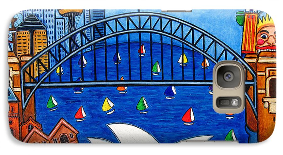 House Galaxy S7 Case featuring the painting Sensational Sydney by Lisa Lorenz