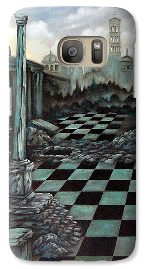 Surreal Galaxy S7 Case featuring the painting Sepulchre by Valerie Vescovi