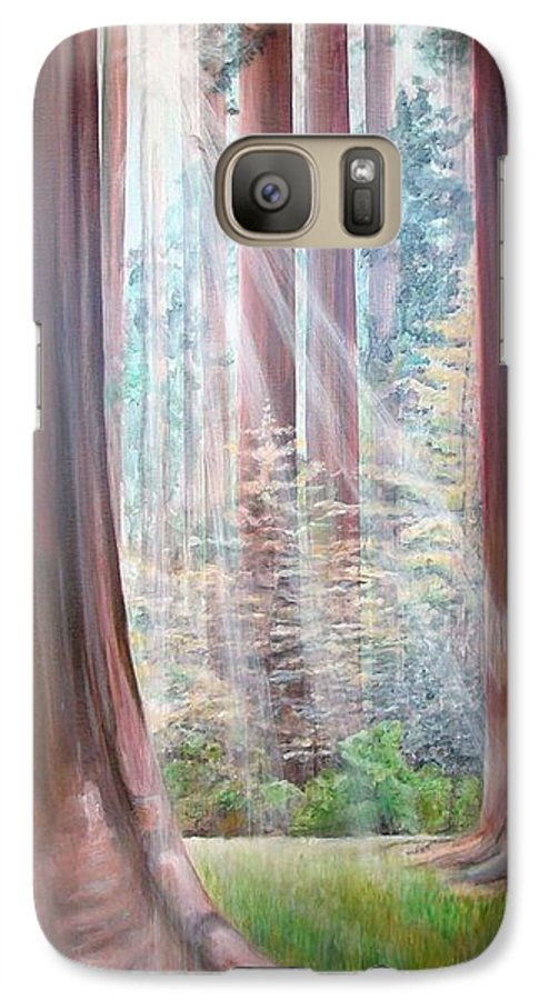 Landscape Galaxy S7 Case featuring the painting Sequoia by Muriel Dolemieux