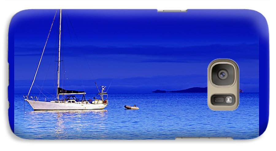 Transportation. Boats Galaxy S7 Case featuring the photograph Serene Seas by Holly Kempe