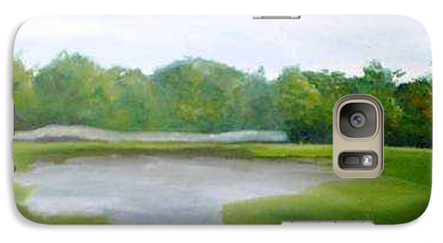 Landscape Galaxy S7 Case featuring the painting Serene Vista by Sheila Mashaw