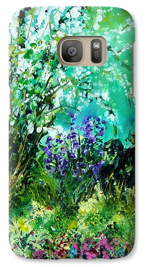 Tree Galaxy S7 Case featuring the painting Seringa by Pol Ledent