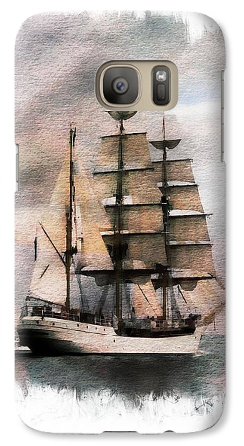 Sail Galaxy S7 Case featuring the painting Set Sail by Aaron Berg