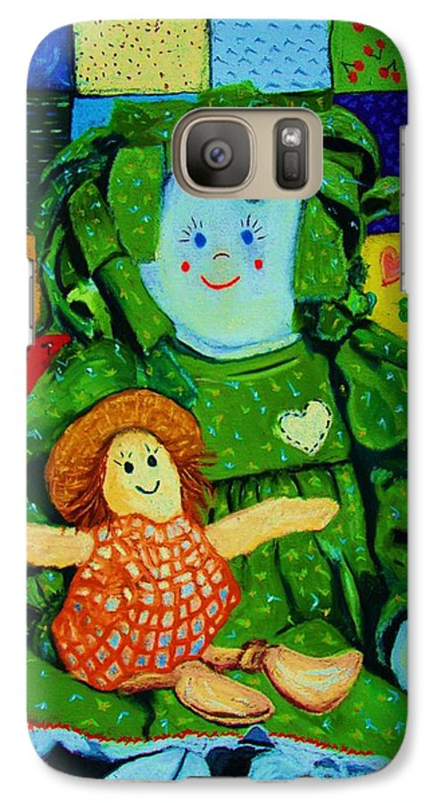 Dolls Galaxy S7 Case featuring the print Sew Sweet by Melinda Etzold