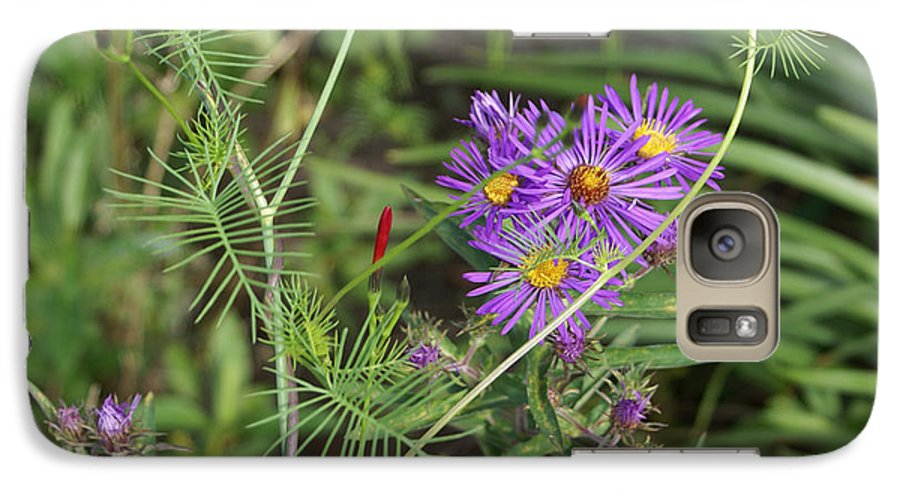 Floral Galaxy S7 Case featuring the painting Shades Of Lavendar by Debbie May