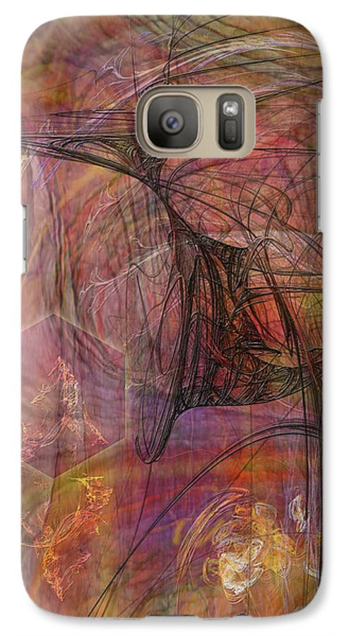 Shadow Dragon Galaxy S7 Case featuring the digital art Shadow Dragon by John Beck