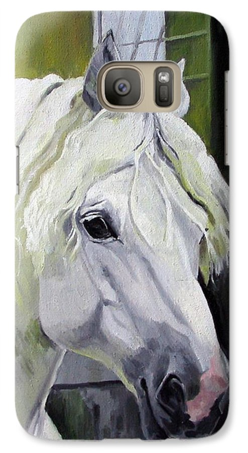 Horse Galaxy S7 Case featuring the painting Shadowfax by Nel Kwiatkowska