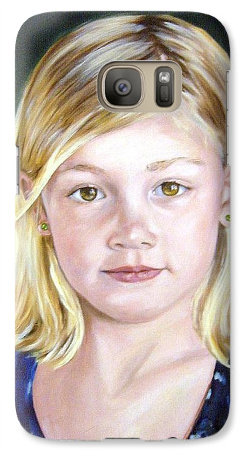 Portrait Galaxy S7 Case featuring the painting Shannon by Anne Kushnick