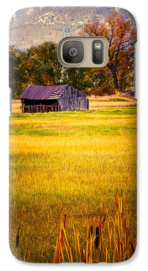 Shed Galaxy S7 Case featuring the photograph Shed In Sunlight by Marilyn Hunt