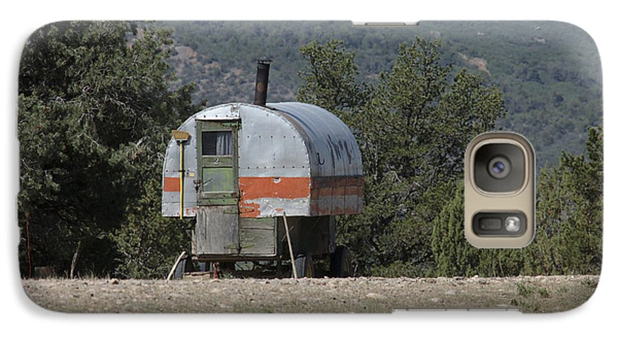 Sheep Galaxy S7 Case featuring the photograph Sheep Herder's Wagon by Jerry McElroy