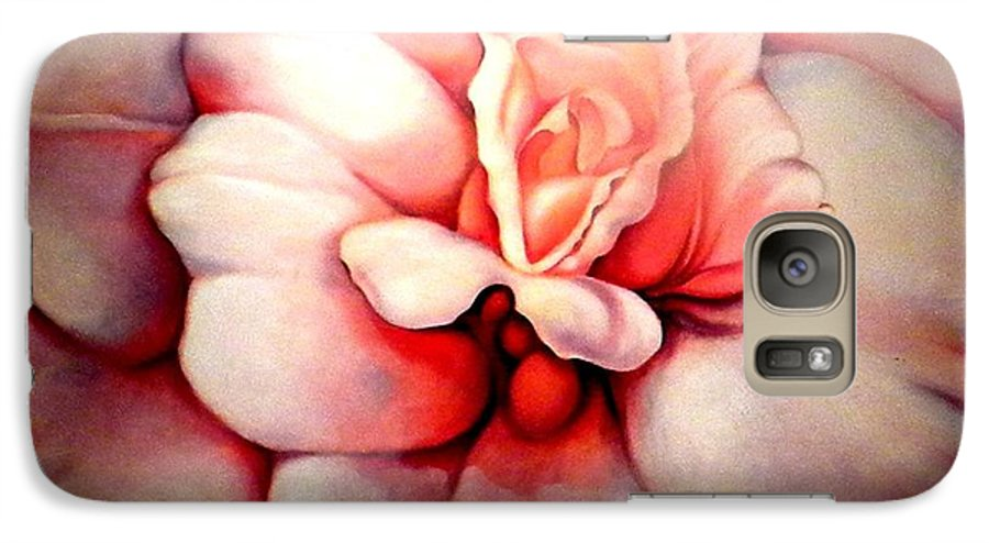 Blooms.large Rose Galaxy S7 Case featuring the painting Sheer Bliss by Jordana Sands